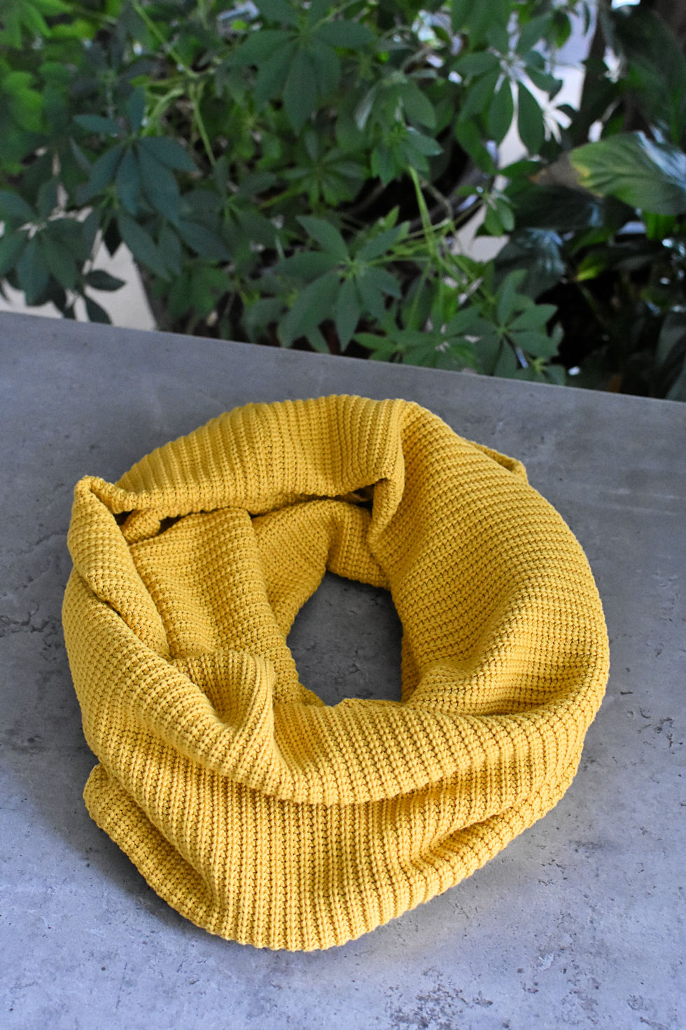 Mustard scarf signed by Collection Space